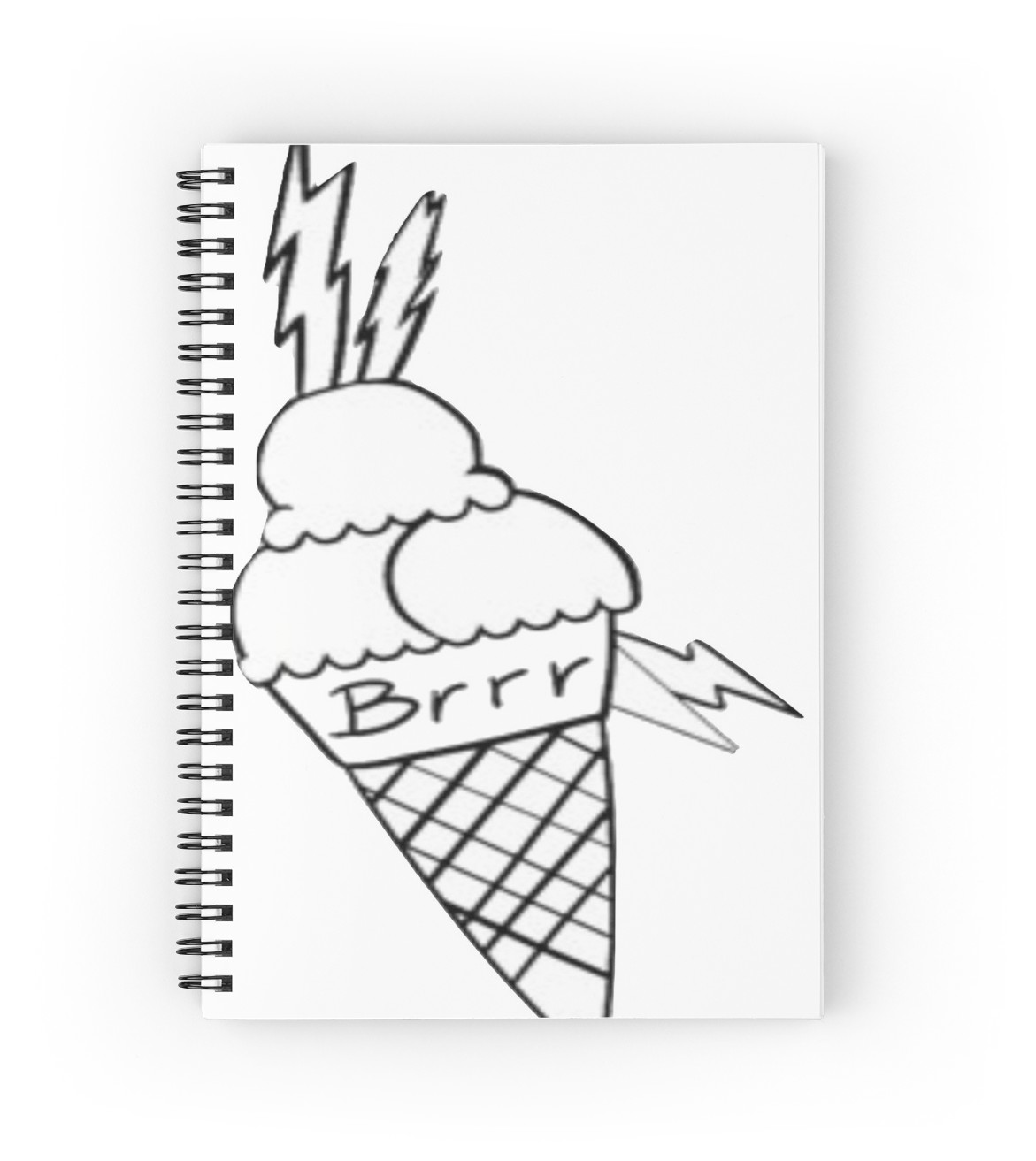 1171x1313 Gucci Mane Brrr Ice Cream Face Tattoo Spiral Notebooks By