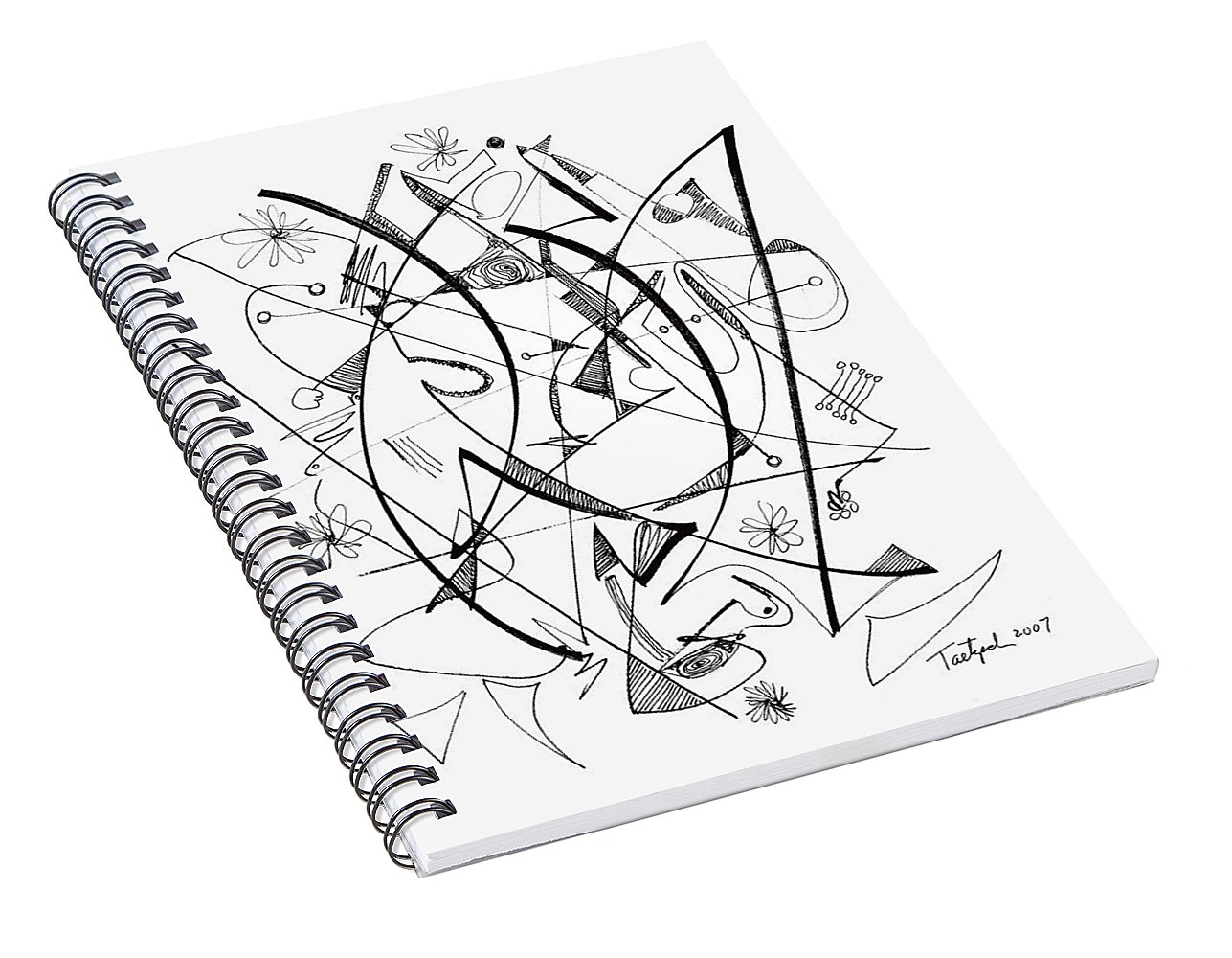 1287x1000 Modern Drawing 124 Spiral Notebook For Sale By Lynne Taetzsch