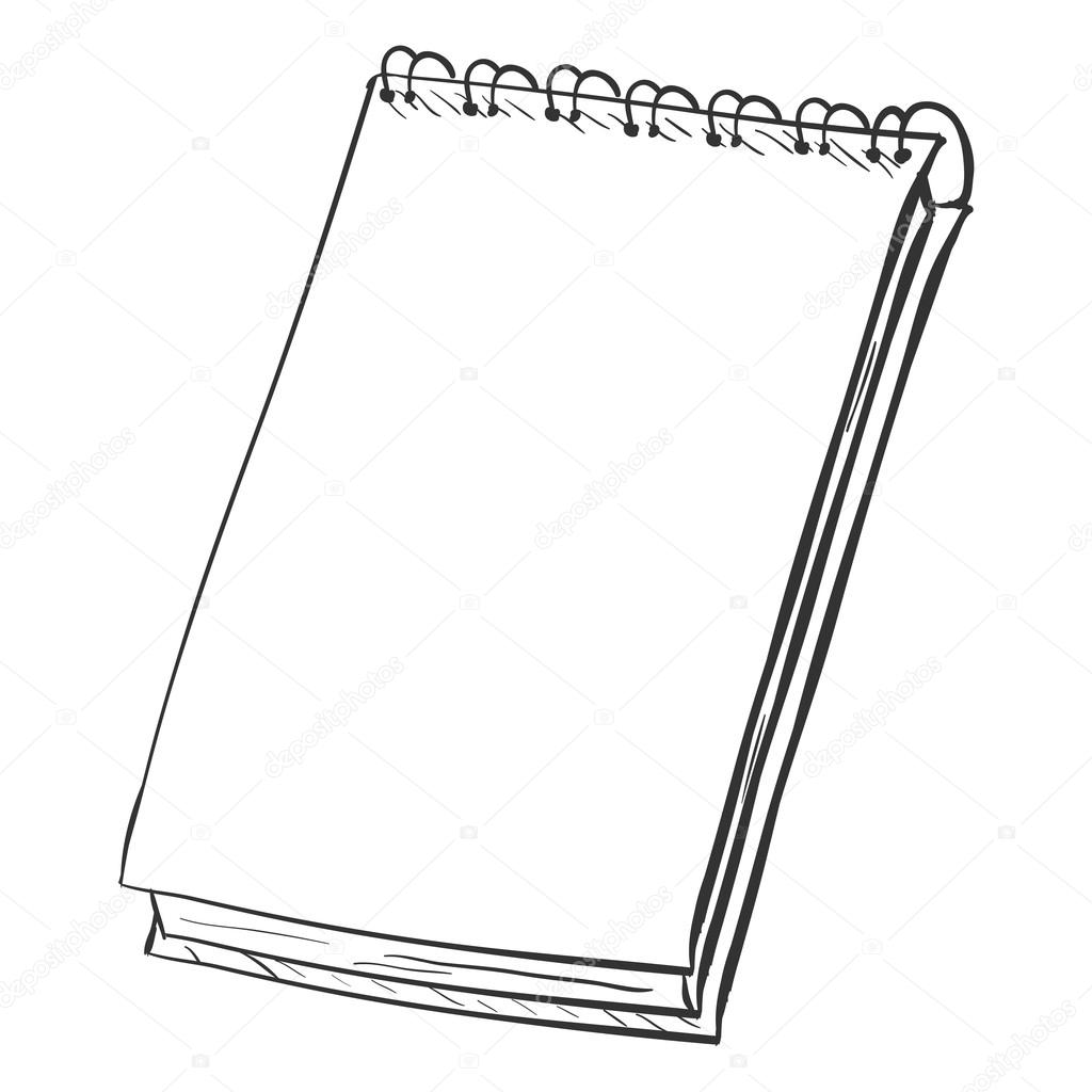 1024x1024 Sketch Spiral Notebook Stock Vector Nikiteev