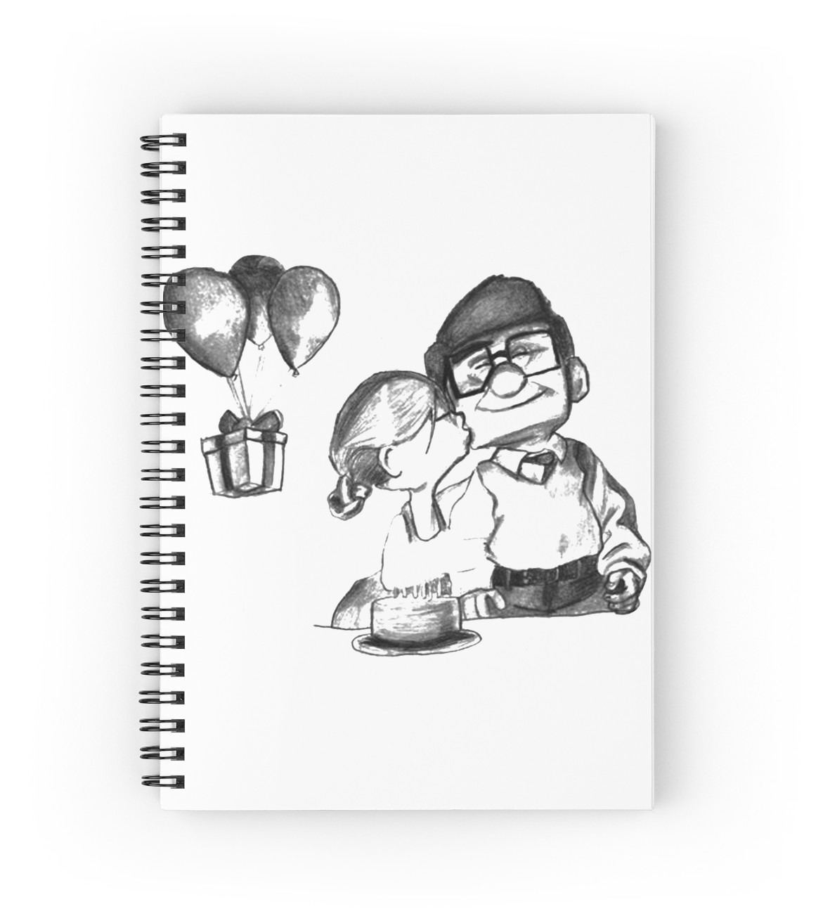 1171x1313 Carl And Ellie Up Romantic Spiral Notebooks By Bessaclaassen
