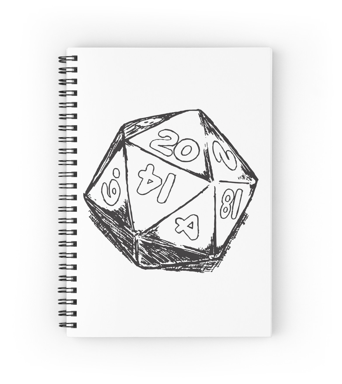 1171x1313 D20 Dice Spiral Notebooks By Hinomaru17 Redbubble