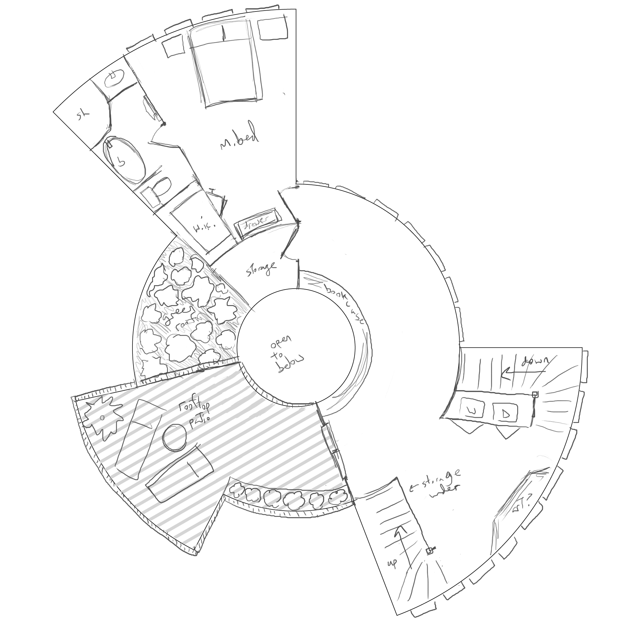 2000x2000 House Plans Circular Dl Spiral Staircase Home Tree Dual Semi Floor