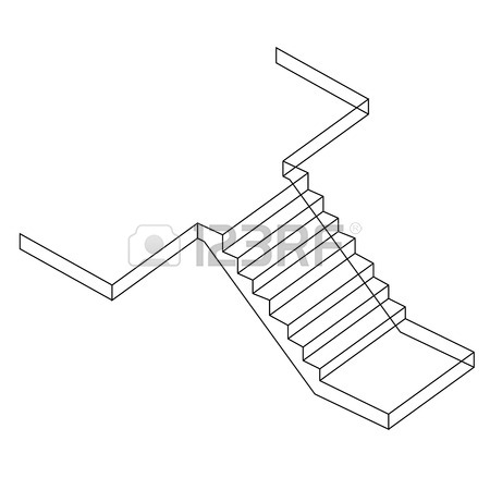 450x450 Top View And Side View Of A Spiral Staircase Royalty Free Cliparts