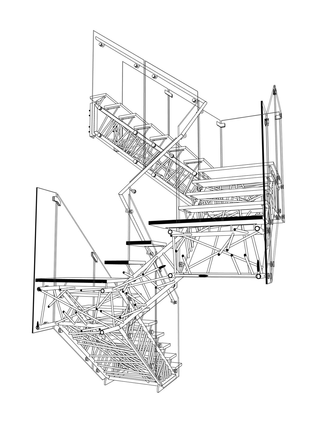 1200x1600 Double Helix Staircase Drawing Staircase Gallery