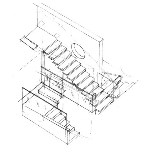 496x480 Staircase Design Drawing Staircase Gallery