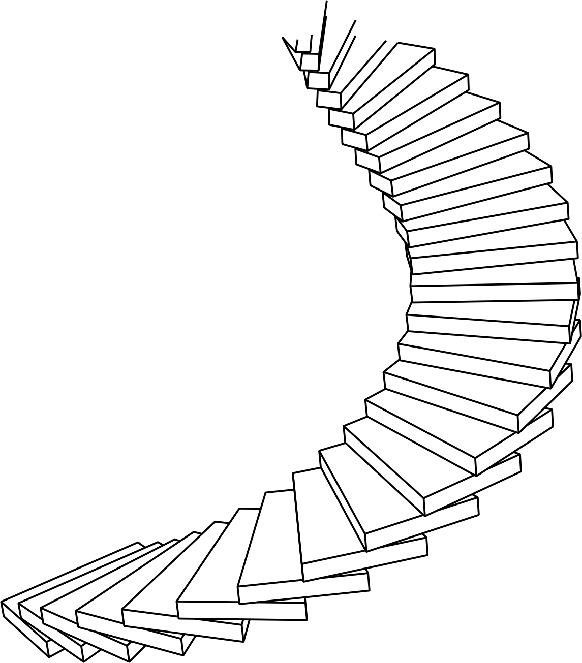 1145x1305 Staircase Line Art Staircase Gallery