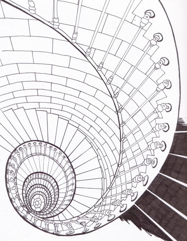 900x1163 Spiral Staircase By Bluehybun