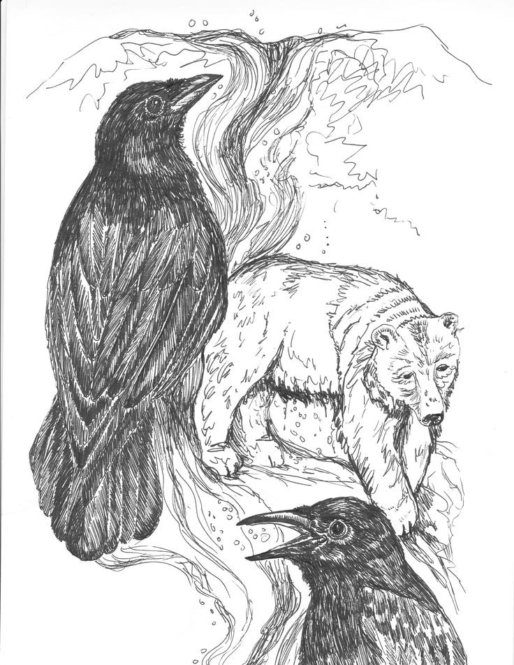 Spirit Bear Drawing