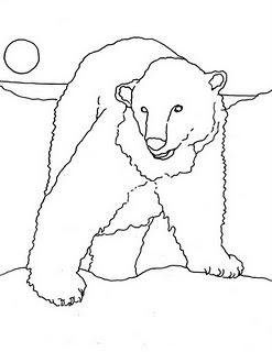 247x320 Polar Bear Coloring Page