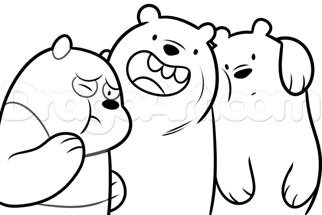 1024x683 We Bare Bears Coloring Pages We Bare Bears Coloring Pages