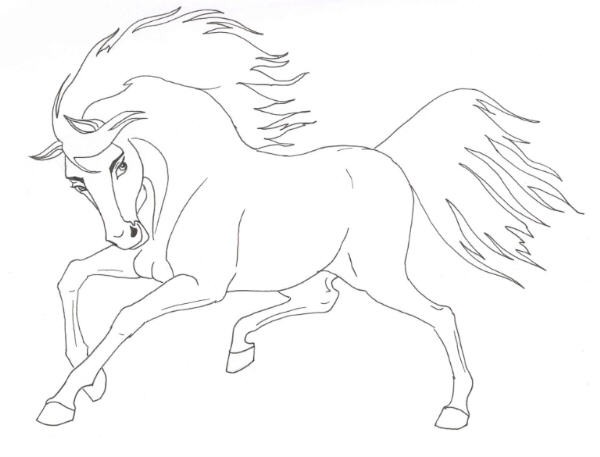 Spirit Horse Drawing at GetDrawings.com | Free for personal use ...