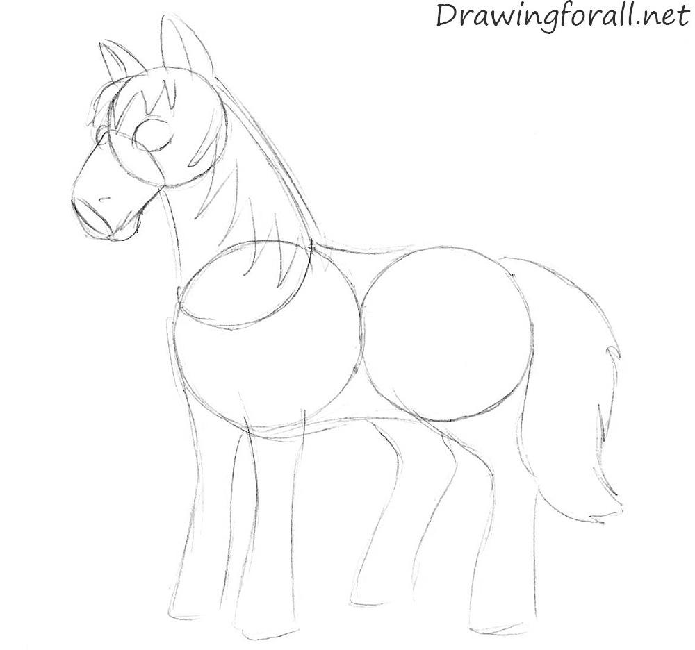 1000x936 Cartoon Horse Drawings Drawings Of Cartoon Horses Pin Easy Cartoon