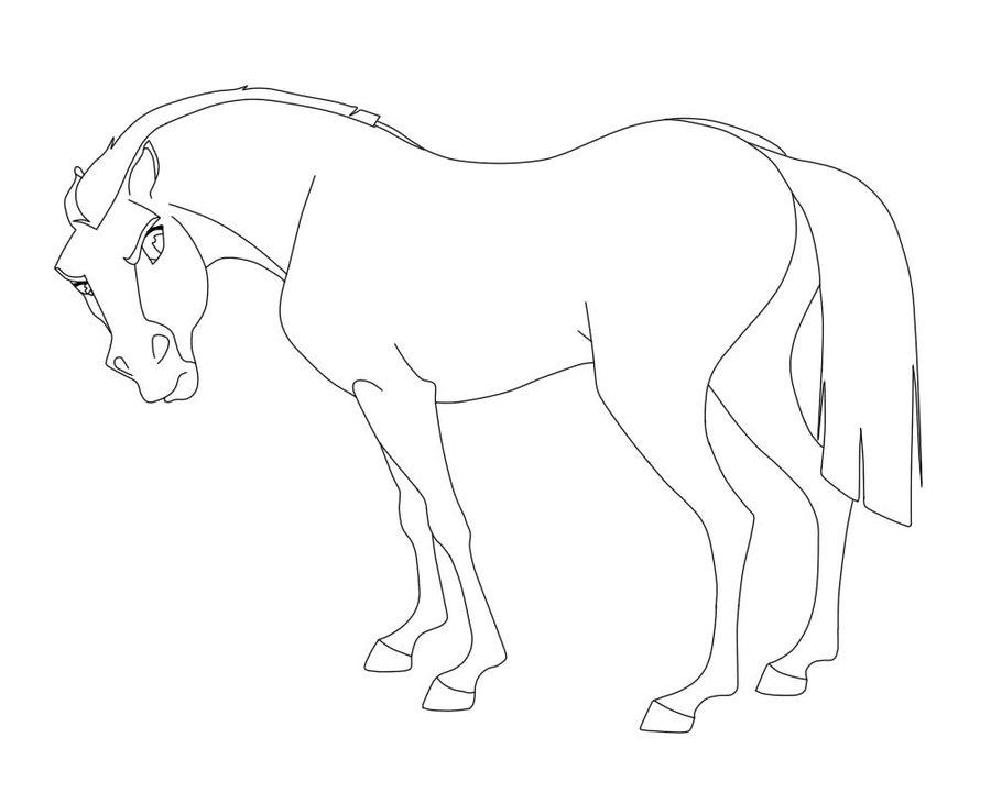 900x720 Lineart Spirit Stallion Of The Cimarron 1 By Isadoramedinaa