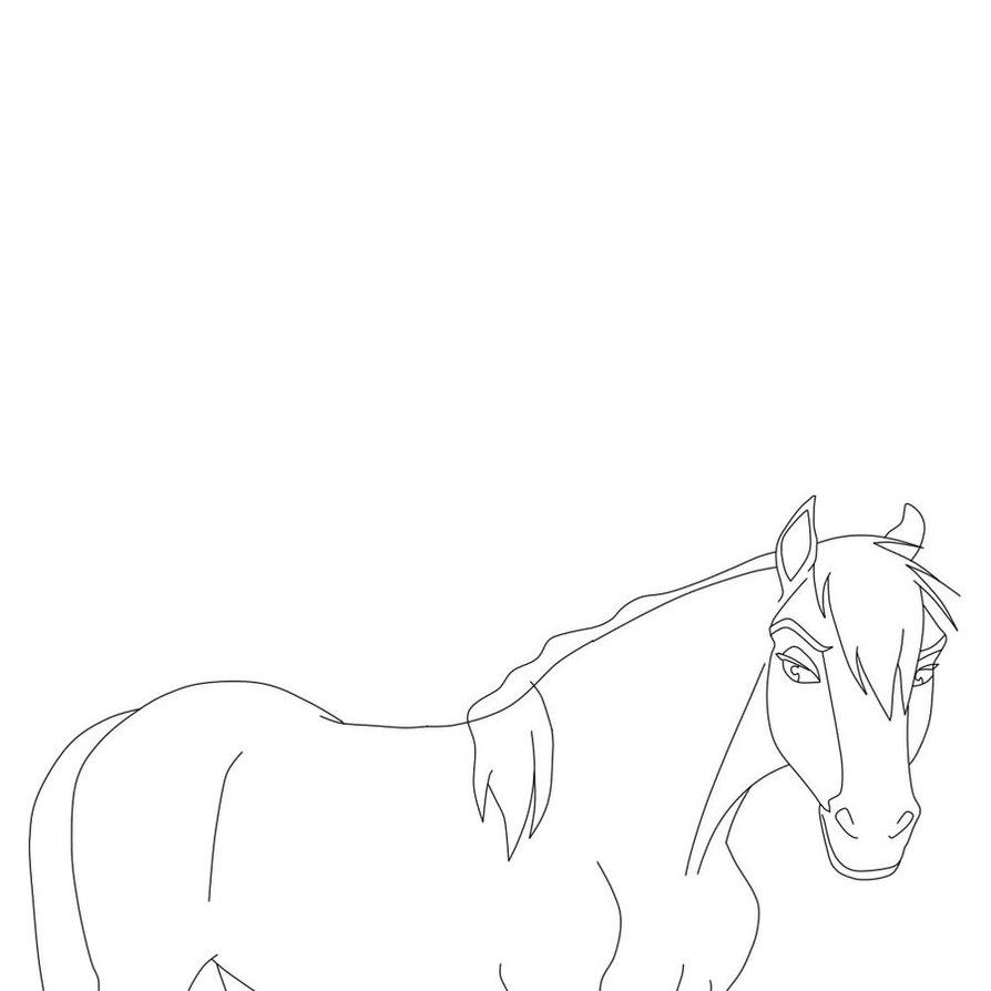 894x894 Lineart Spirit Stallion Of The Cimarron 3 By Isadoramedinaa