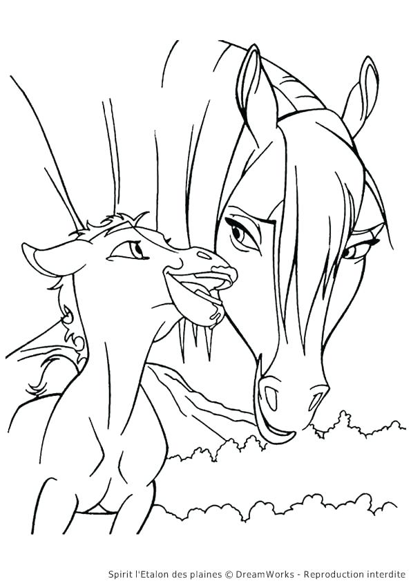595x841 Simple Spirit Stallion Of The Cimarron Coloring Pages Image