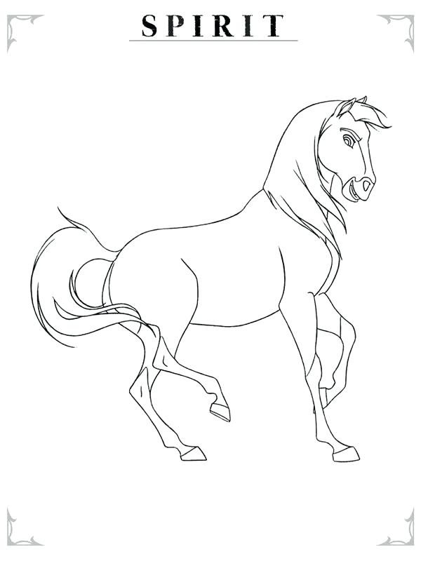 600x800 Simple Spirit Stallion Of The Cimarron Coloring Pages Image Many