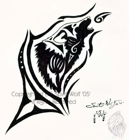 Spirit Wolf Drawing