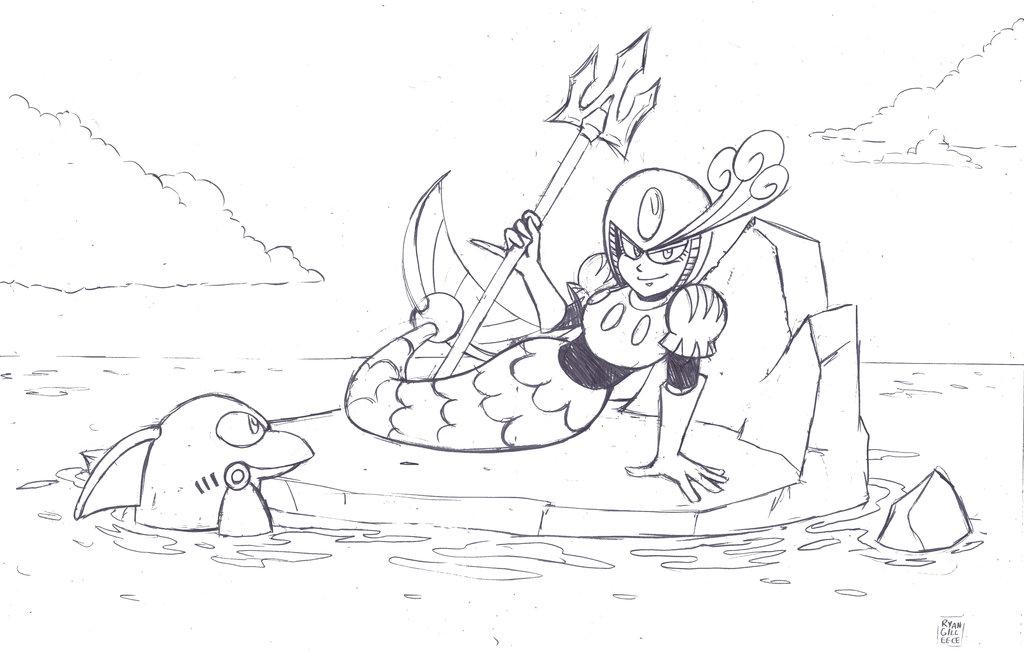 1024x651 Splash Woman Pencils By Megaryan104