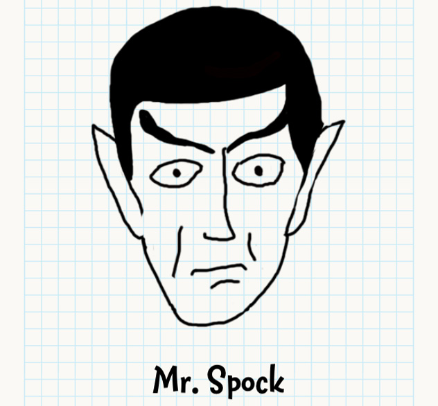 632x586 Mr Spock Badly Drawn Faces Answers, Walkthrough, Cheats