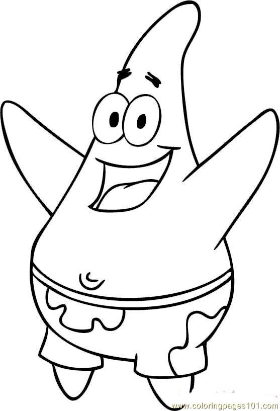 557x817 Beautiful Spongebob Coloring Pages To Print Given Different