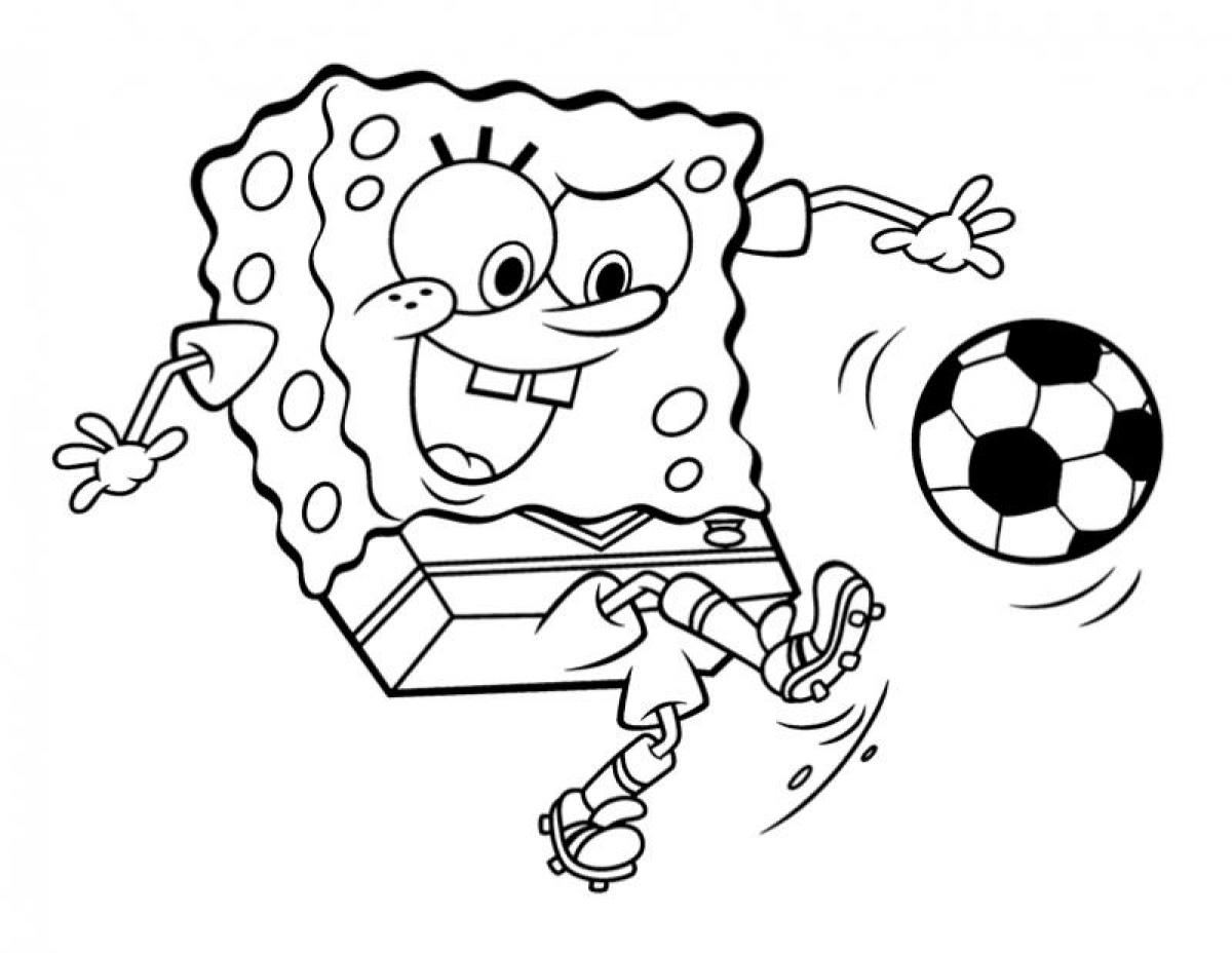 1200x928 Free Spongebob Squarepants Coloring Pages With Printable Spongebob
