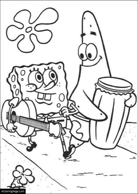 463x650 Spongebob Square Pants Plays Guitar And Patrick Plays The Bong
