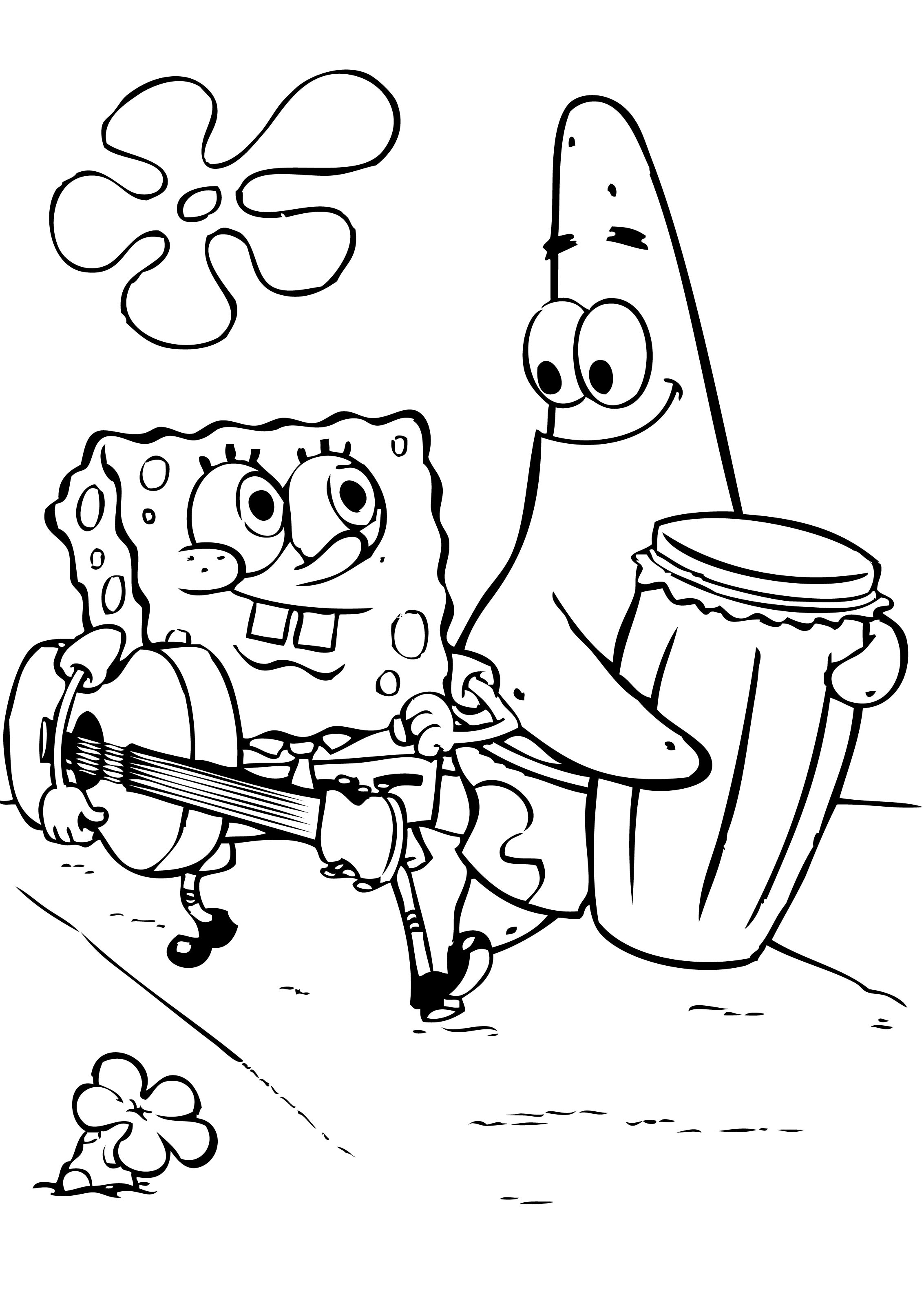 2266x3195 spongebob and patrick coloring pages free coloring pages for kids