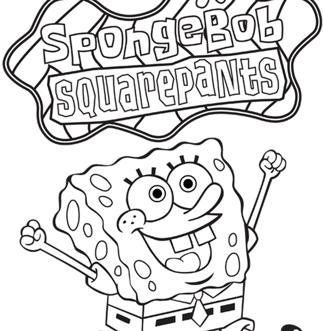 1055x1080 Spongebob Squarepants Coloring Pages I Love You Free Printable