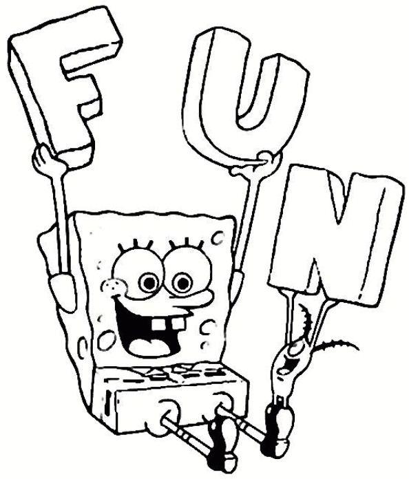 594x696 Kids N 39 Coloring Pages Of Spongebob Squarepants