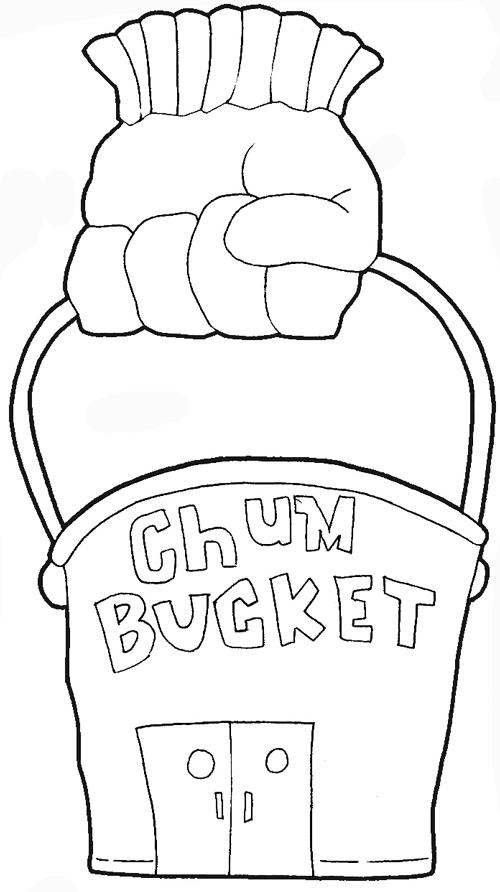 500x892 Plankton Drawing How To Draw Planktons Chum Bucket From Spongebob