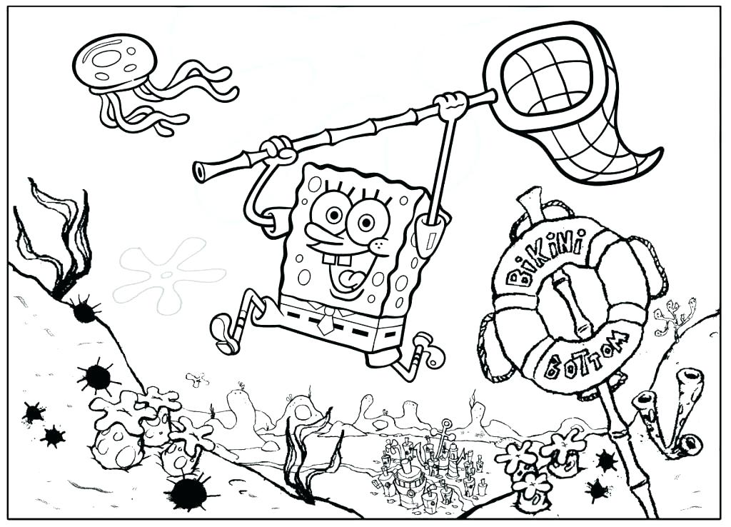 1024x738 Spongebob Squarepants Coloring Book Together With Free 74