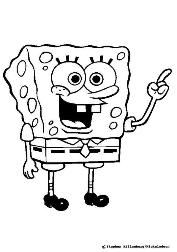 596x850 Sponge Bob Coloring Pages