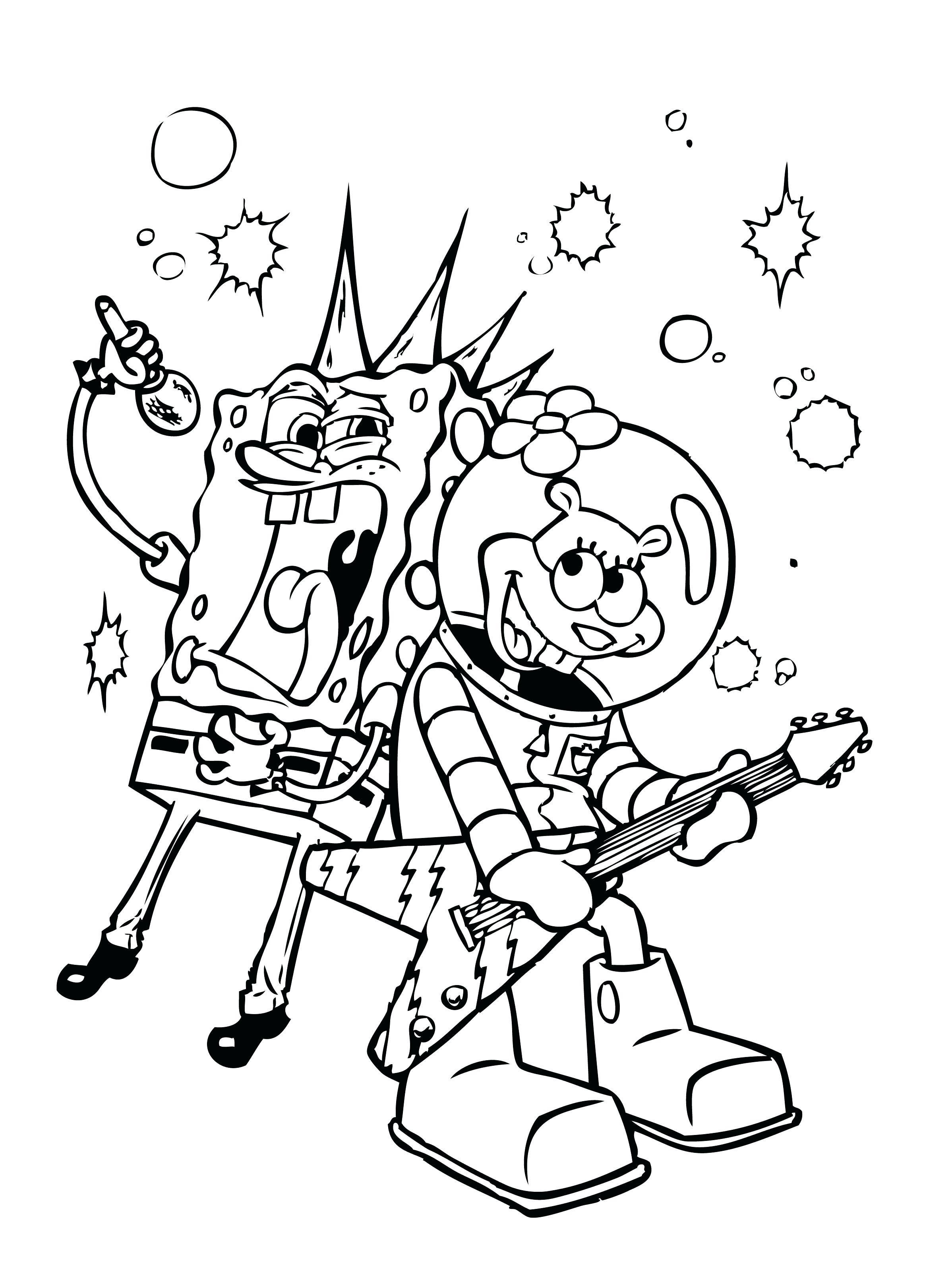 2396x3240 Coloring Bob Sponge Coloring Pages