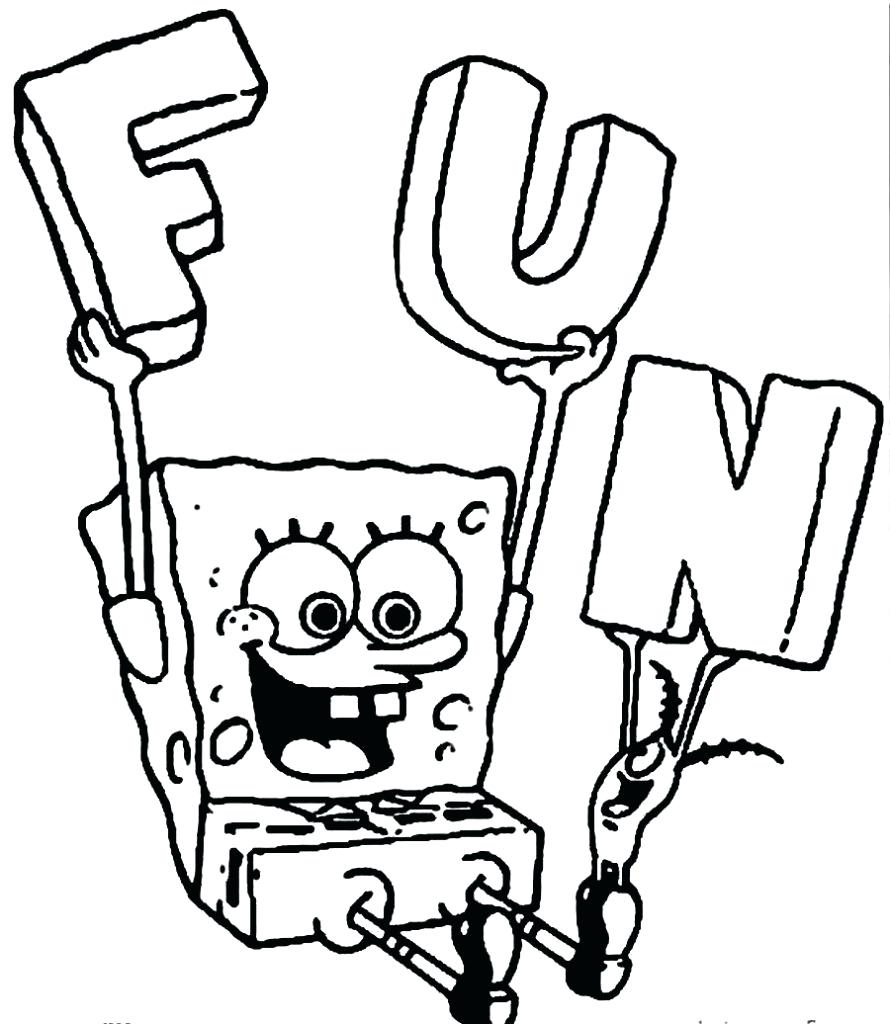 890x1024 Coloring Spongebob Coloring Draw Sponge Bob Pages For Sheets Free