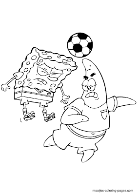 283x400 Digital Dunes Spongebob And Patrick Playing The Game Coloring Pages