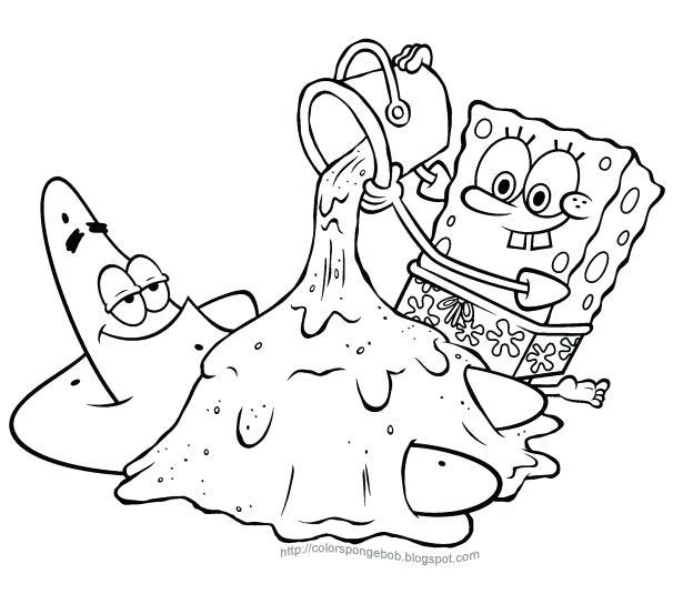 615x544 Free Printable Coloring Pages Spongebob Together With Medium Size