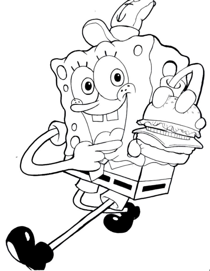 700x905 Free Spongebob Coloring Pages For Kids Kidstuff Pinterest