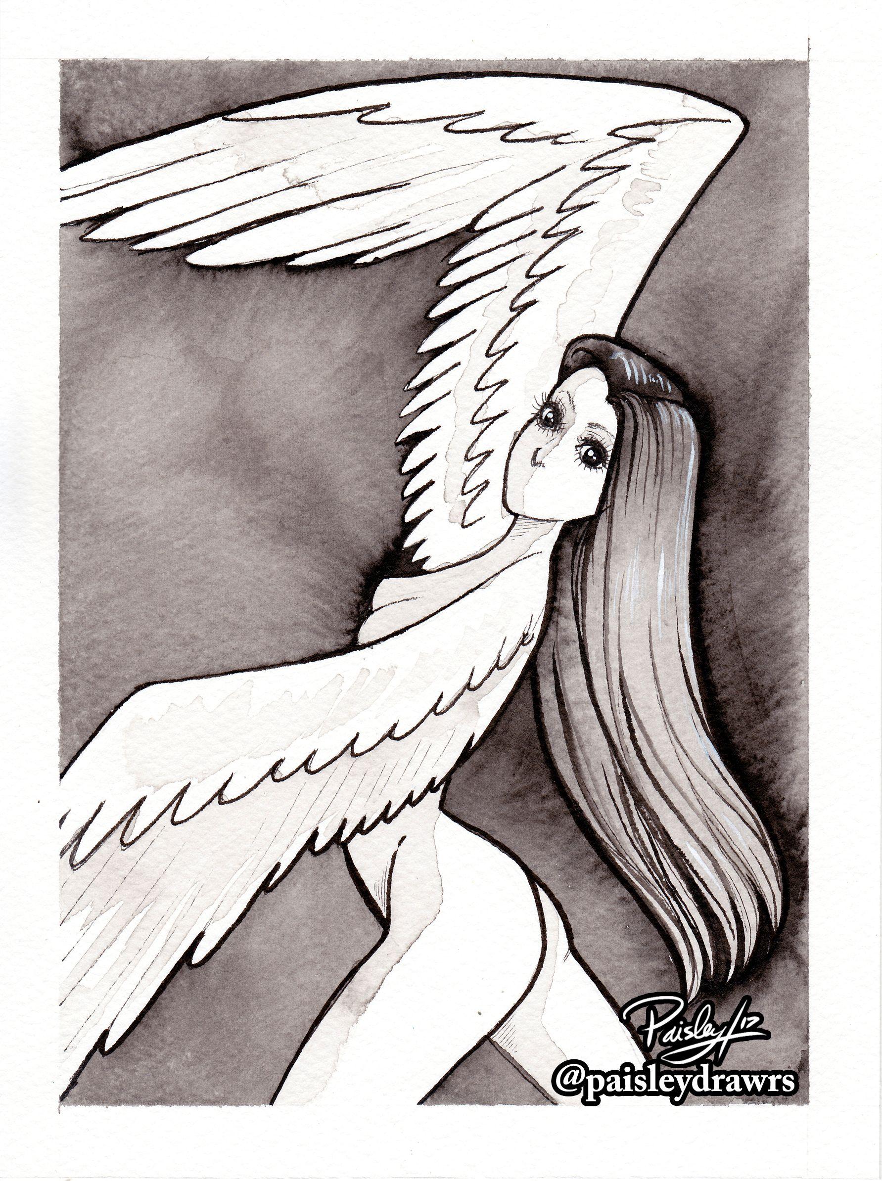 1783x2388 Inktober Day 27 Harpy