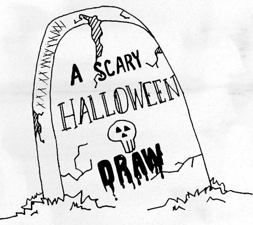 500x445 A Scary Halloween Draw