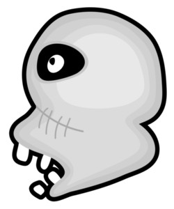 250x300 Scary Skull Face Drawing Royalty Free Stock Image