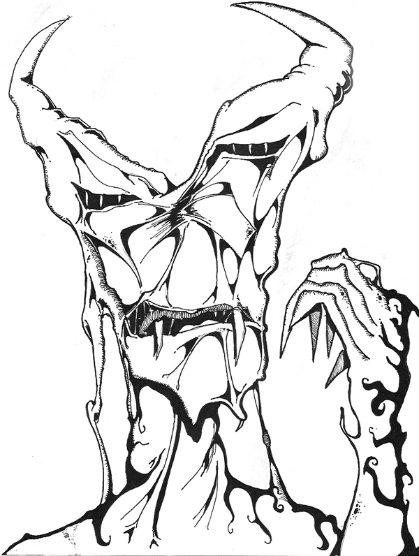 600x796 Sketch Please Scary Monster