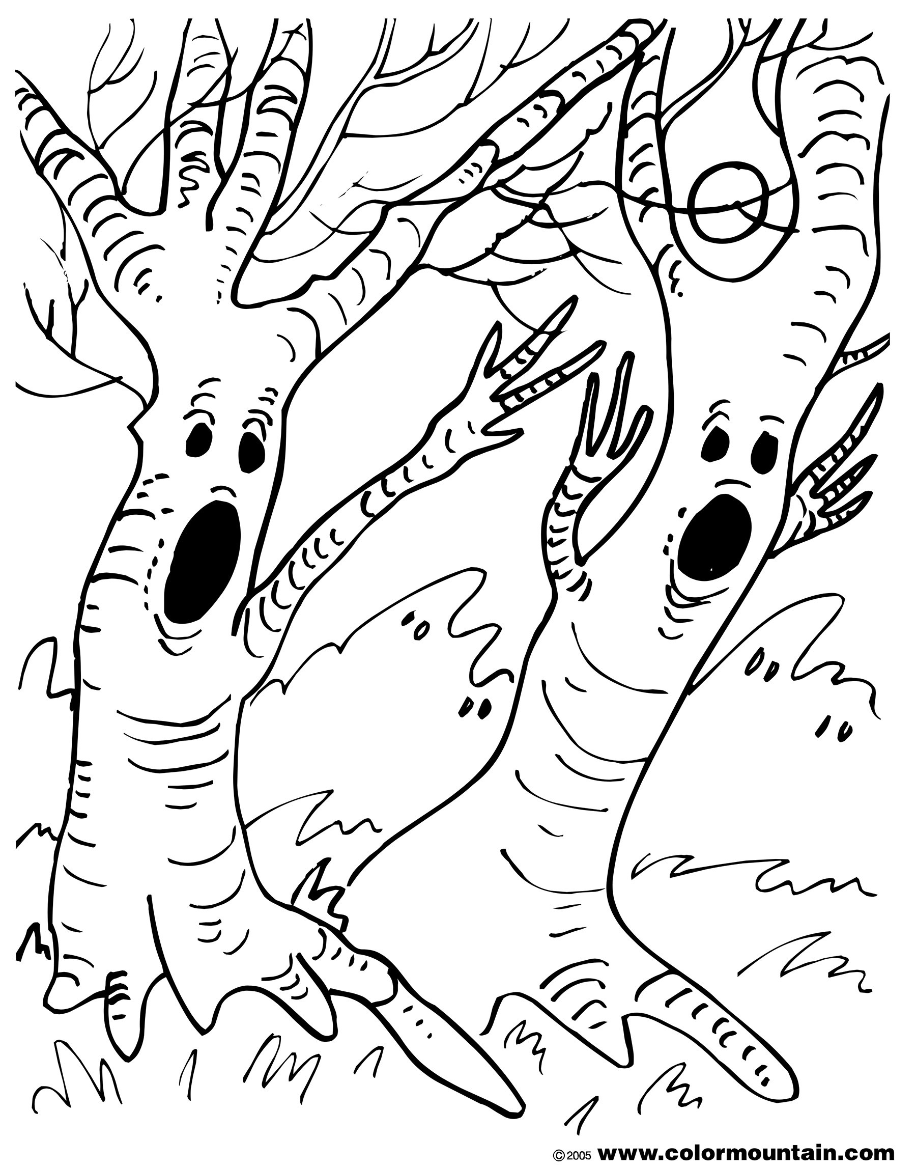 1800x2294 Spooky Coloring Pages New Spooky Tree Coloring Page Create