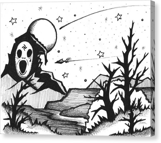 546x486 Spooky Drawing By Stephen W Stanko