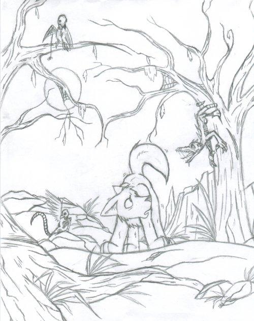 500x633 Spooky Forest By Gato Sama
