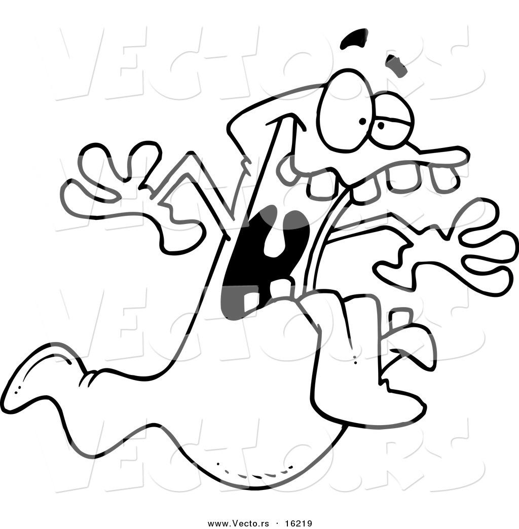 1024x1044 Vector Of A Cartoon Spooky Ghost