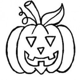 260x260 Coloring Pages Easy Halloween Drawing Spooky Icons Preview