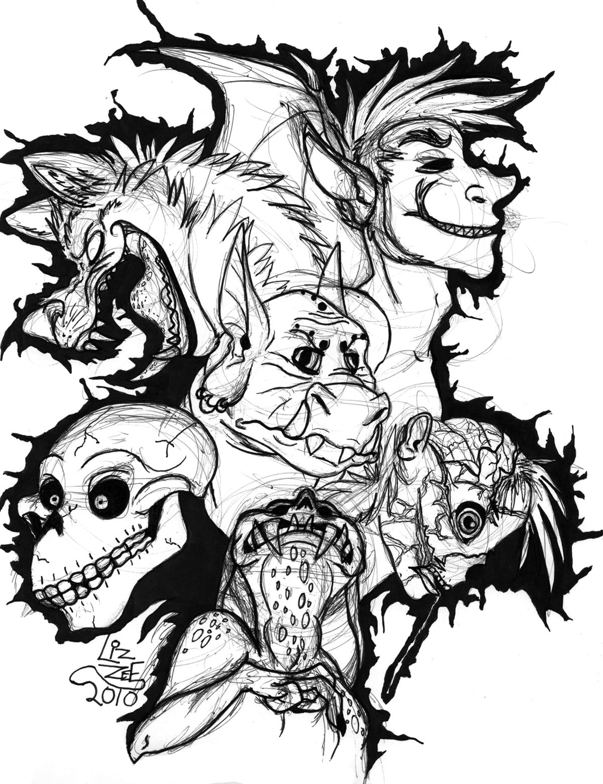 Spooky Drawing At Getdrawings Com Free For Personal Use Spooky