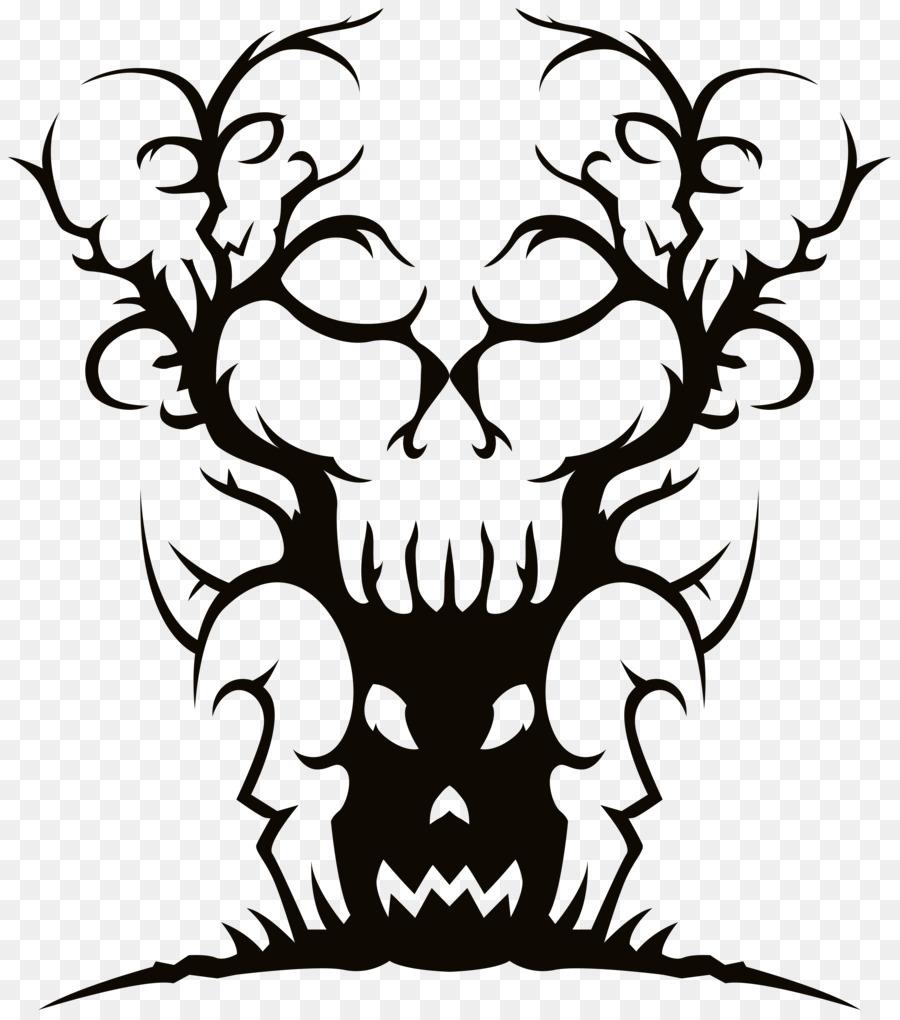 900x1020 Spooky Tree Drawing Clip Art