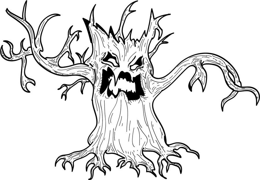 900x624 Spooky Tree Absolutely Love1 Halloween!!