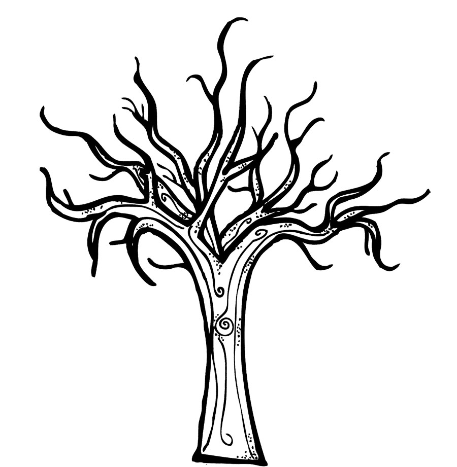 scary trees coloring pages | Spooky Tree Drawing at GetDrawings.com | Free for personal ...